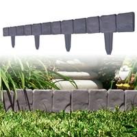 10 Piece Cobblestone Flower Bed Border by Pure Garden