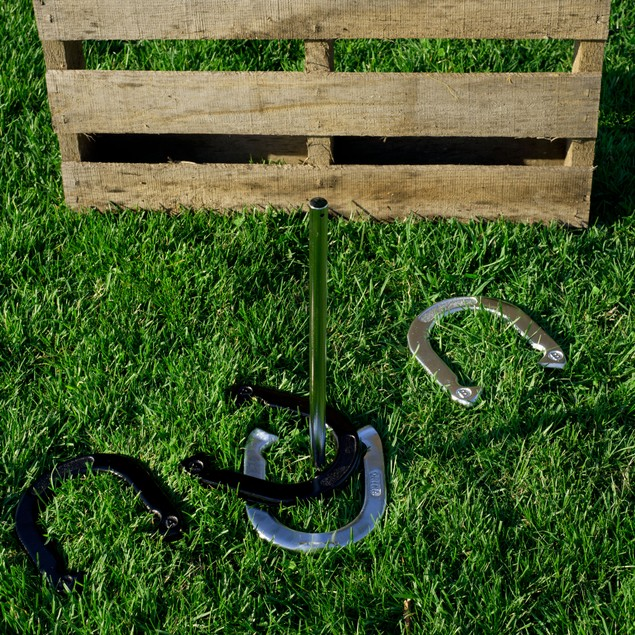 Trademark Games Professional Horseshoe Set - Heavy Duty