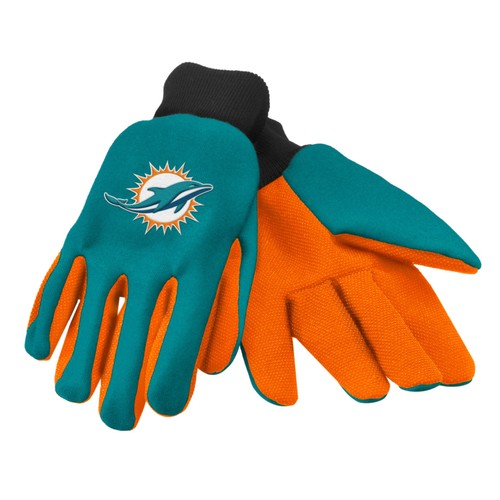 Miami Dolphins Work Gloves  Forever Collectibles Accessory Adult Mens