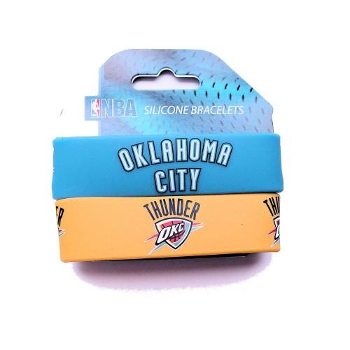Oklahama City Thunder Rubber Wrist Band (Set of 2) NBA