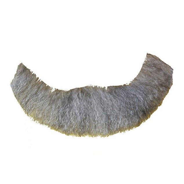 Light Gray Full Character Beard Human Hair Costume Halloween Accessory