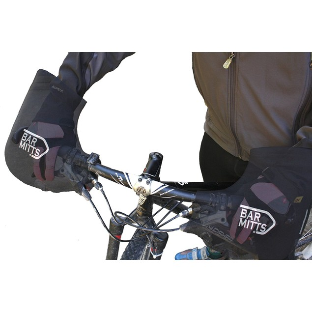 Bar Mitts Mountain/Flat/Commuter Pogie Handlebar Mittens, Black - OSFA