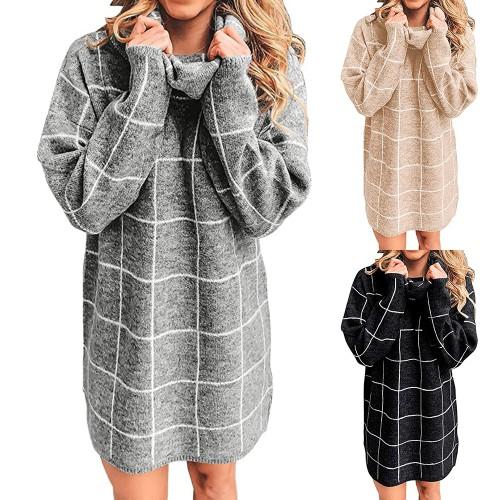 Women's Two Lapel Checkerboard Sweater
