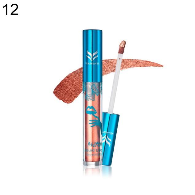Metal Liquid Lipstick Lip Gloss Long Lasting Makeup Cosmetic