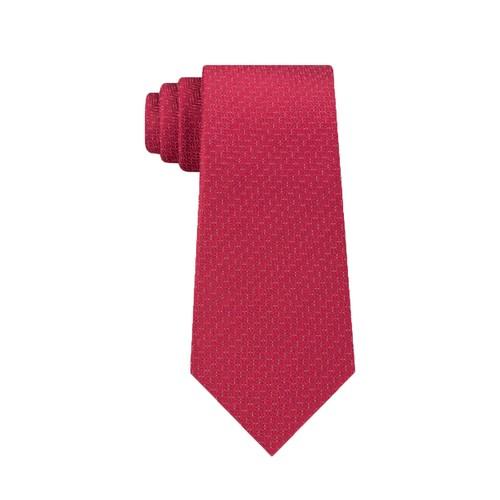 Kenneth Cole Reaction Men's Speckle Solid Slim Tie Red Size Regular
