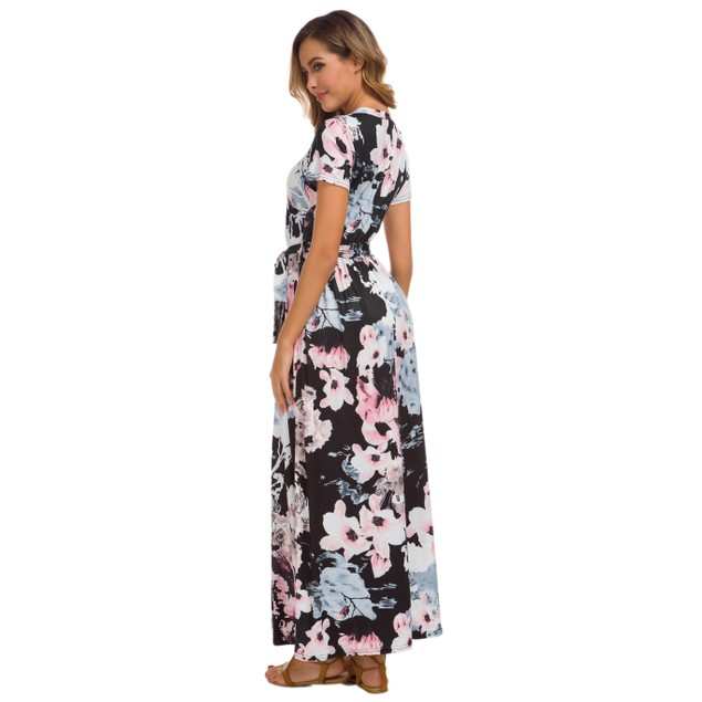 Lilly Posh Floral Front Tie Dress
