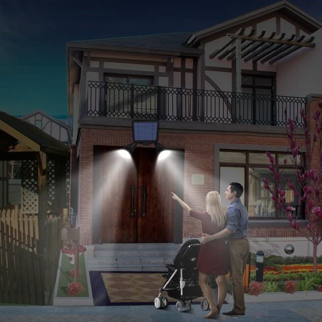 Solar Lights Outdoor Solar Power Motion Sensor Spotlights