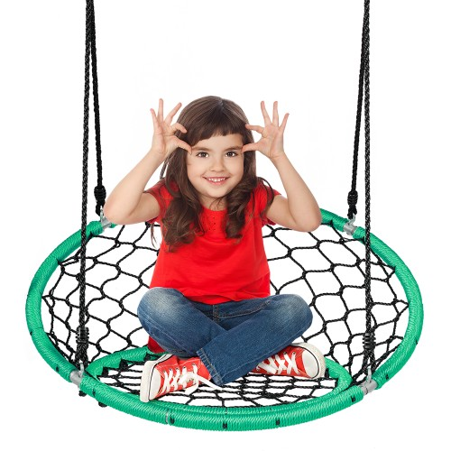 Costway Swinging Monkey Web Chair Swing w/ Adjustable Ropes