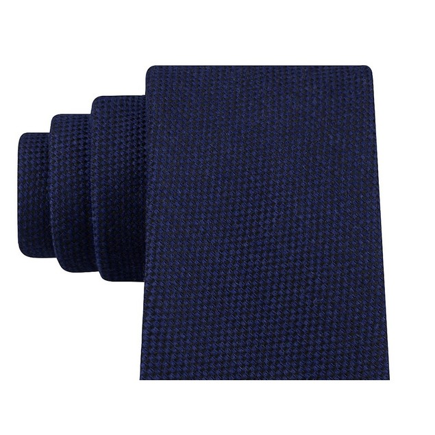 Tommy Hilfiger Men's Aaran Solid Tie Navy Size Regular