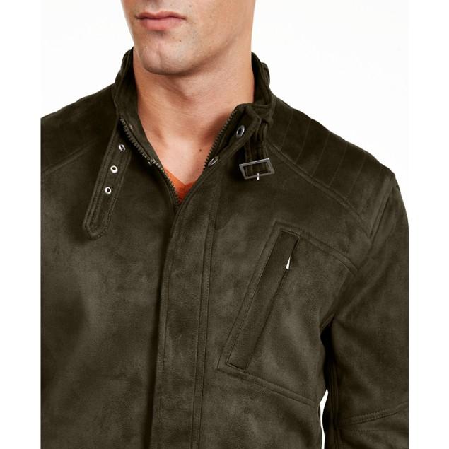 INC International Concepts Men's Faux Suede Jacket Black Size 2 Extra Large