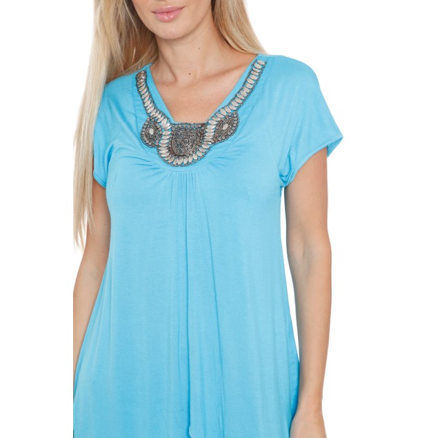 Maternity Myla Tunic Dress - 12 Colors - Extended Sizes