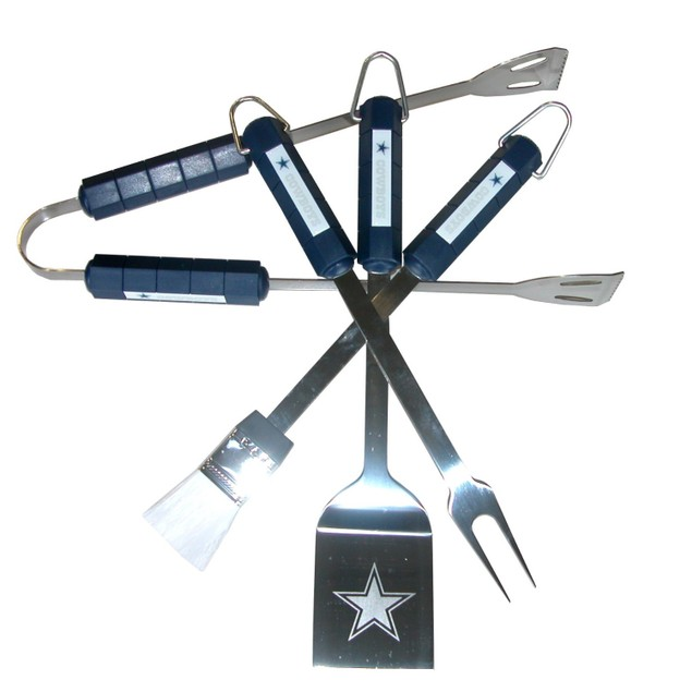 Dallas Cowboys BBQ Set NFL Football Team Logo Spatula Tongs Fork Brush DAL