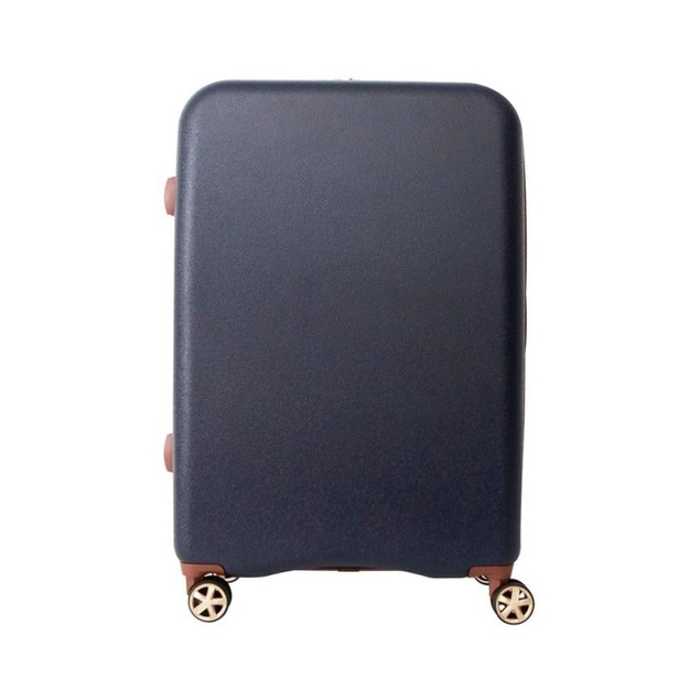 Path Travel 28 Inches Hardside Suitcase w/ a Retractable Handle, Navy Blue