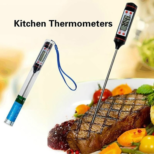 Kitchen Digital Thermometer Cooking Food Probe for Meat Water Milk