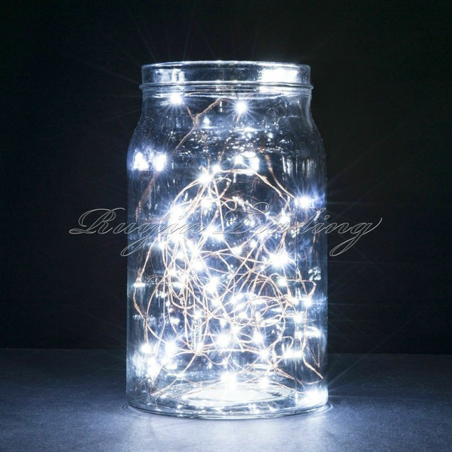 2M Button Cell Powered Copper Wire Mini Fairy String Lights