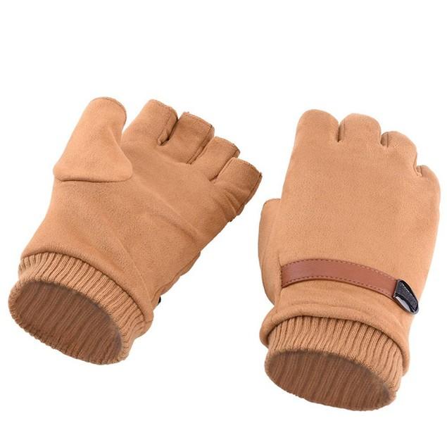 Men's Windproof Elastic Half Finger Driving Gloves