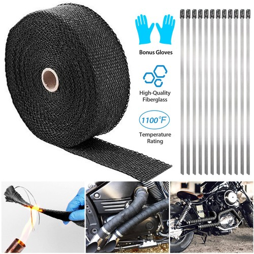 "2"" 50FT Exhaust Heat Wrap Fiberglass Manifold Header Pipe Heat Wrap"