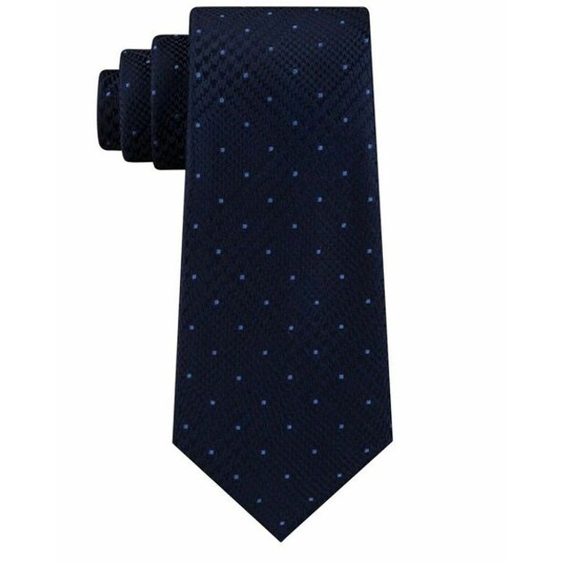Michel Kors Men's Classic Glen Check Dot Tie Blue Size Regular