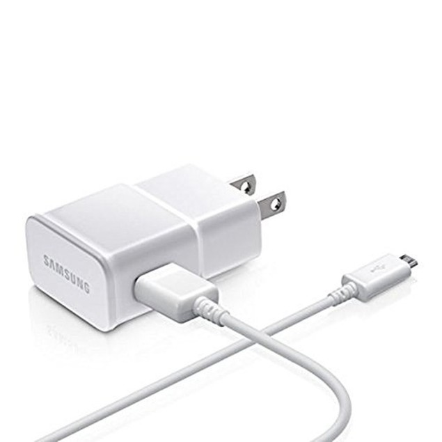 Samsung OEM 2 Amp Adapter w/ 5 Feet Micro USB Charging Cables - White
