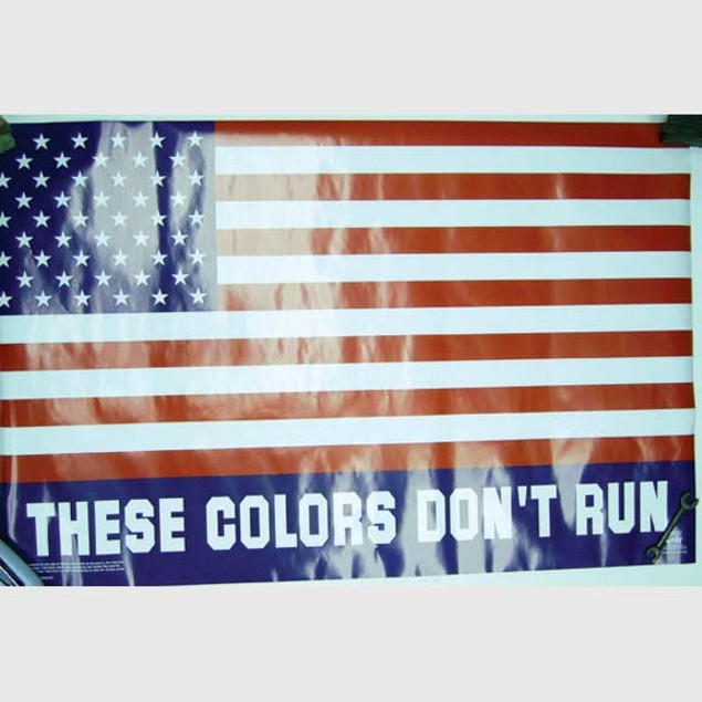 "American Flag Poster USA Colors Don't Run United States Patriotic 23"" x 35"""