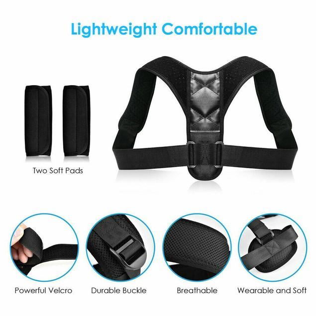 2 PCS Unisex Posture Corrector Adjustable Orthotics Spine Back Braces