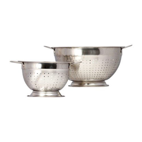 2-Pack Hight Quality Stainless Steel Deep Colander Strainer Set