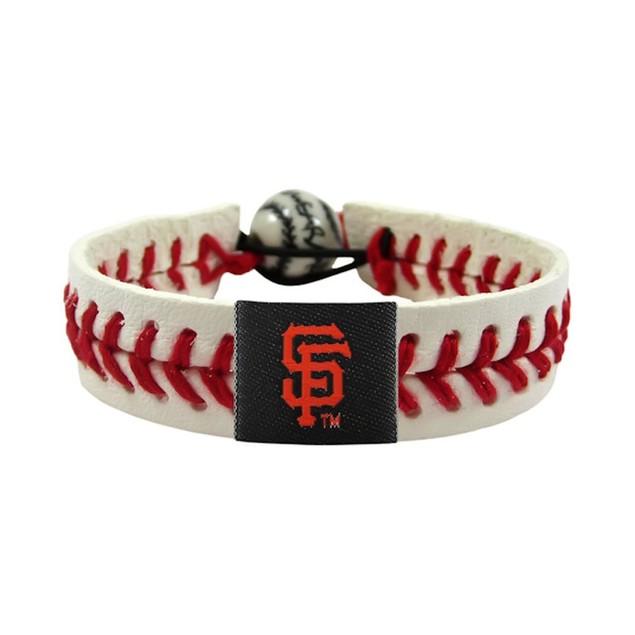 SAN Francisco Giants Classic MLB Gamewear Leather Baseball Bracelet