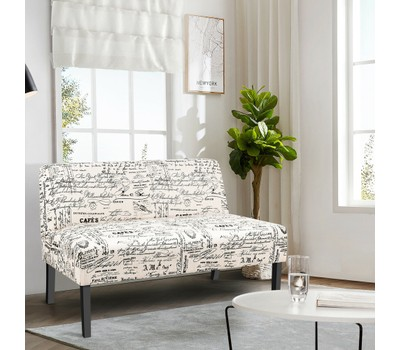 Costway Armless Loveseat Sofa Was: $299.99 Now: $199.99.