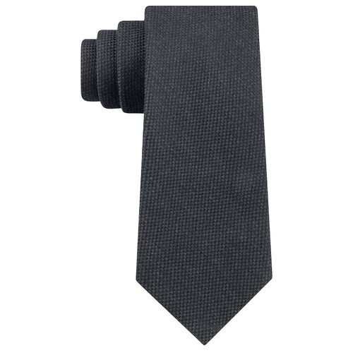 Tommy Hilfiger Men's Aaran Solid Tie Gray Size Regular
