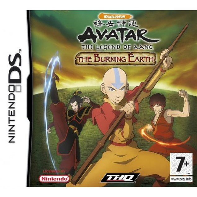 Avatar The Last Airbender Burning Earth Game DS