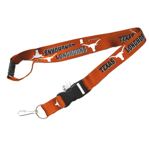 Texas Longhorns Clip Lanyard Keychain Id Holder Ticket - Orange