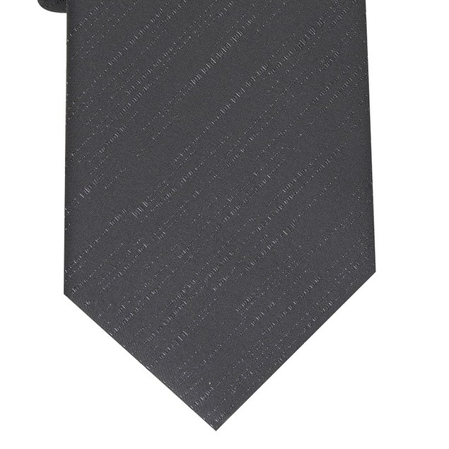Alfani Men's Slim Textured Tie Black Size Regular