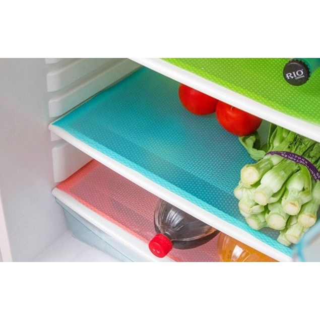 4-Pack or 8-Pack Refrigerator Mats –Assorted Colors