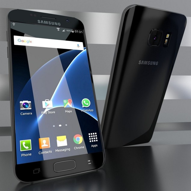Samsung Galaxy S7, Verizon, Black, 32 GB, 5.1 in Screen