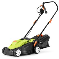 "Costway 14"" Electric 12-Amp Lawn Mower w/ Folding Handle"
