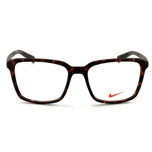 Nike Eyeglasses NIKE 7096 215 Matte Tortoise/Black 53 17 140 Plastic Demo Lens