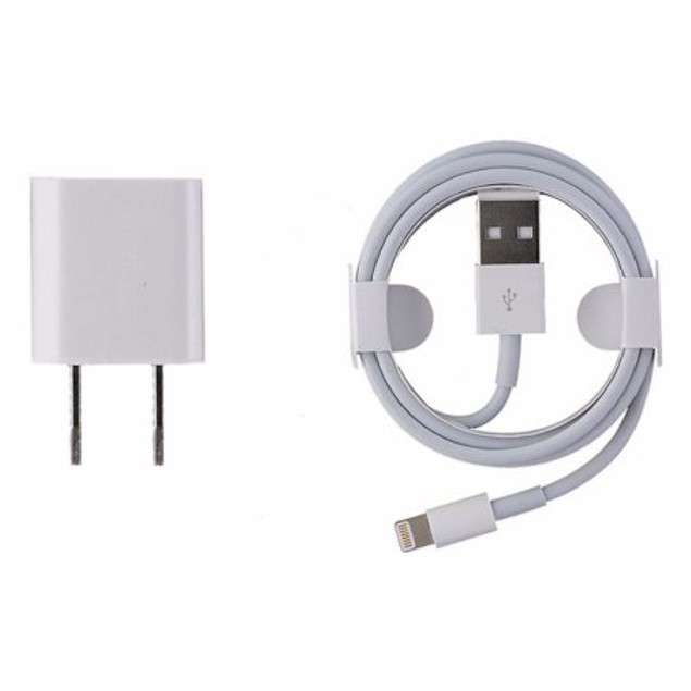 Apple Original Charger + Lightning Cable Bundle