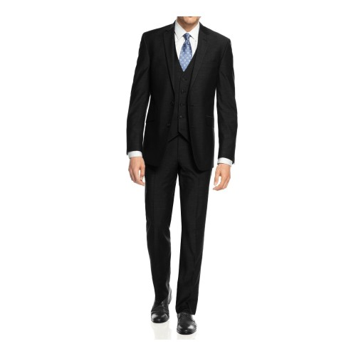 Braveman Men's 3-Piece Three Piece Slim Fit Formal Cut Suit Set