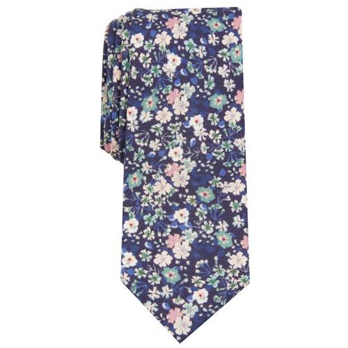 Bar III Men's Snyder Skinny Floral Tie Green Size Regular