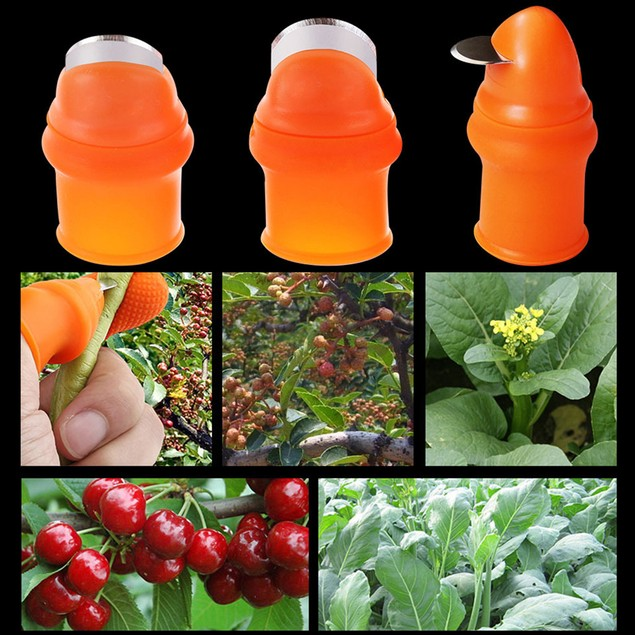 Silicone Finger Protectors Sleeve Cover Plant Harvesting Thumb Knife