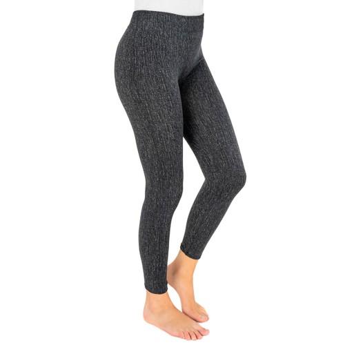 MUK LUKS ® Women's Fleece-Lined Faux Denim Legging