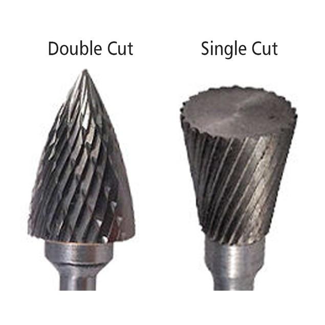 SK-7 Cone 90 Degree Carbide Burr Die Grinder Bit Single Cut