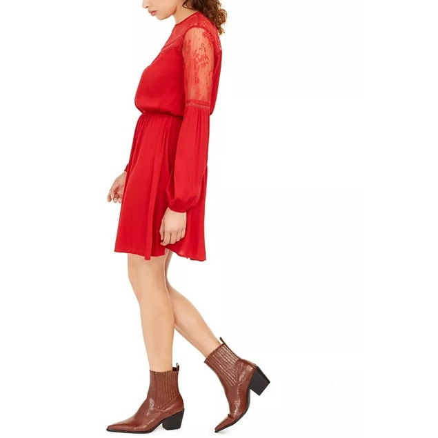 American Rag Juniors' Women's Lace Dress Red Size X-Large