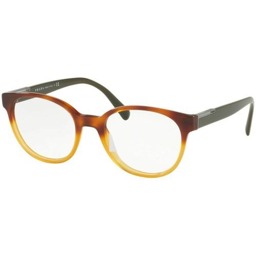 PRADA PR10UV - NKO1O1 Eyeglasses Havana Gradient / Yellow  54mm