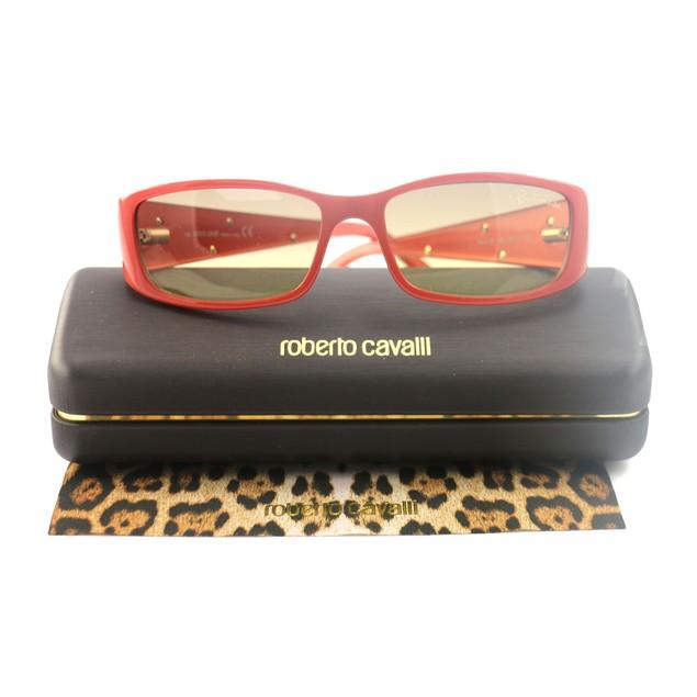 Roberto Cavalli Women's Sunglasses RC0351 P01 Orange 55 15 135 Rectangular