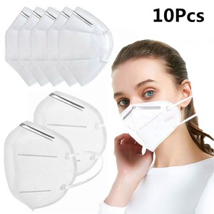 10Pcs KN95 Face Mask Respirator Medical PM2.5 Breathable 5-Layer Protection