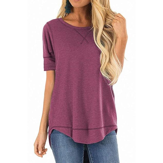 Curved Bottom Hem Line Shirt