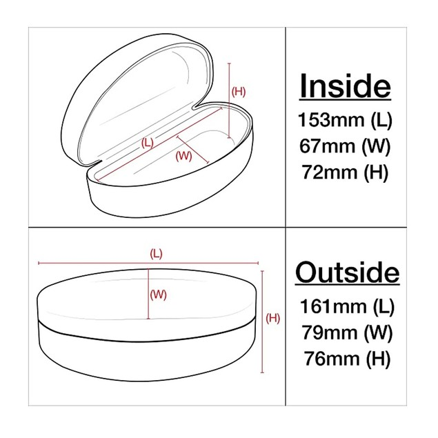 Homvare Extra Large Protective Hard Carrying Case for All Sunglasses