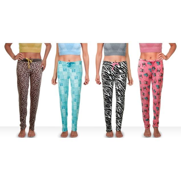 2-Pack Mystery Women's Super Soft Printed Plush Pajama Pants