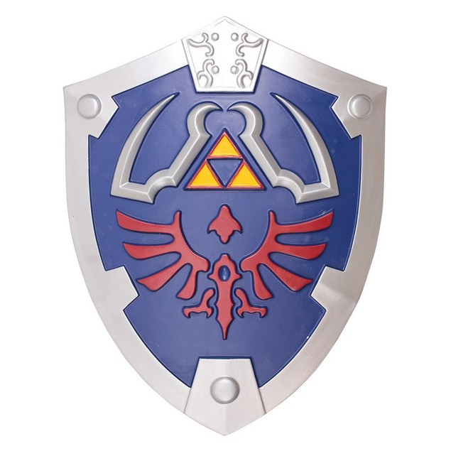 "The Legend Of Zelda Hylian Shield 21"" x 18"" Foam Prop Link Cosplay Nintendo"